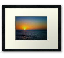 Sea Sunset and a Bird Framed Print