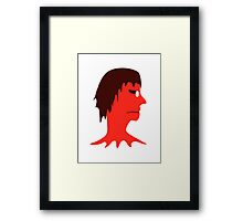 Monster with Men Head Illustration Framed Print