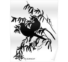 Black peaceful dove Poster