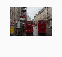 London - It's Raining Again But Riding the Double-Decker Buses is Fun! Unisex T-Shirt
