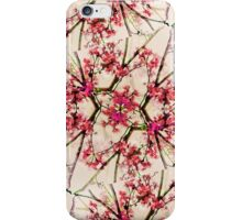 Red Deco Geometric Nature Collage Floral Motif iPhone Case/Skin