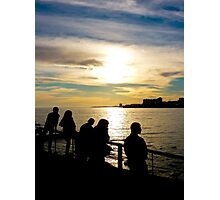 Teens Watching the Sunset Photographic Print