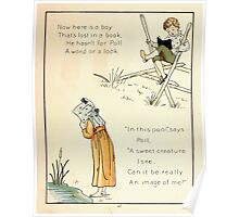 The Glad Year Round for Boys and Girls by Almira George Plympton and Kate Greenaway 1882 0053 Lost in a Book Poster