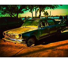 Abandoned Car Digital Edition Photo Photographic Print