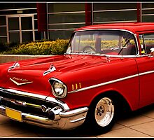 Red Chevy by Cheryl Hall