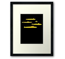 Yellow Submarines Framed Print