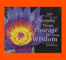 Serenity Prayer With Lotus Flower By Sharon Cummings Kids Clothes
