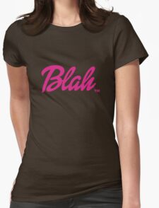 Blah Barbie Womens Fitted T-Shirt