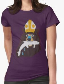 is the bear Catholic?  Womens Fitted T-Shirt