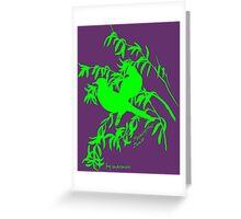 Green peaceful dove Greeting Card
