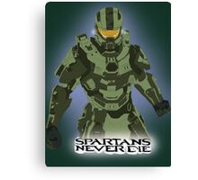 Spartans Never Die Canvas Print
