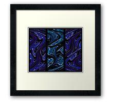 Blue Flux, triptych no.1 - Luminosity series Framed Print