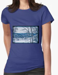 Winter Wonderland in Blue Womens Fitted T-Shirt