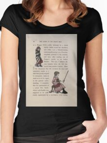 The Queen of Pirate Isle Bret Harte, Edmund Evans, Kate Greenaway 1886 0014 Beggar Child Women's Fitted Scoop T-Shirt