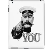 World War One, Lord Kitchener, WW1, Your Country needs you! Recruitment Poster iPad Case/Skin