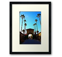 Stanford University Campus. An Archway to the Quad. California 2009 Framed Print