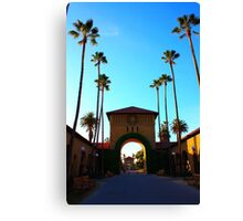 Stanford University Campus. An Archway to the Quad. California 2009 Canvas Print