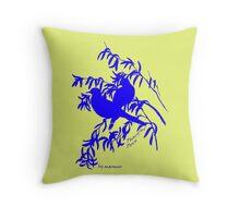 Blue peaceful dove  Throw Pillow