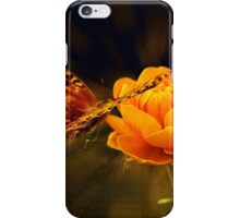 Butterfly and flower iPhone Case/Skin