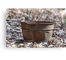 Old rusty bucket Canvas Print