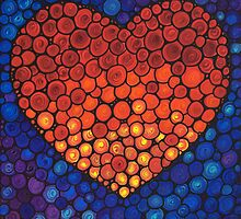 Healing Heart Art Sharon Cummings by Sharon Cummings