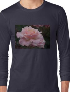 Rose and Rain in Pink Long Sleeve T-Shirt