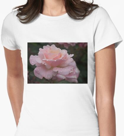 Rose and Rain in Pink Womens Fitted T-Shirt