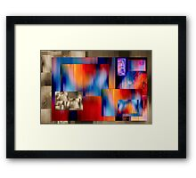 The temptation of colours on a dull background Framed Print