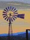 Windmill Sunset by BettyEDuncan