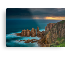 Stormy Sunset Above The Pinnacles Metal Print