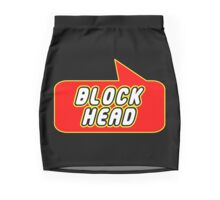 Block Head by Bubble-Tees.com Mini Skirt