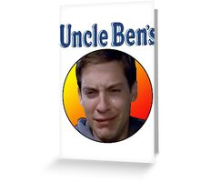 Tobey Maguire's Uncle Ben's Greeting Card