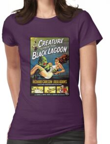 Creature From The Black Lagoon Womens Fitted T-Shirt