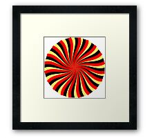Spiral Black Red Yellow Framed Print