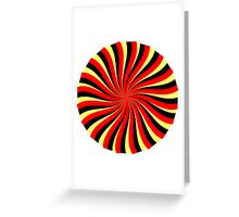 Spiral Black Red Yellow Greeting Card