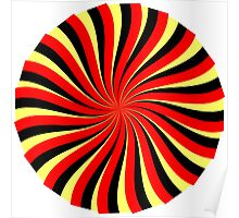 Spiral Black Red Yellow Poster