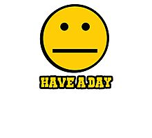 Have a day smiley face emoticon Photographic Print