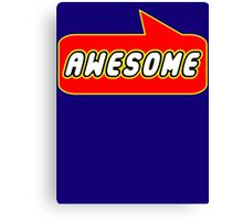 Awesome by Bubble-Tees.com Canvas Print