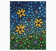 Spring Maidens - Flower Garden Mosaic Landscape Abstract Art Print Kids Clothes