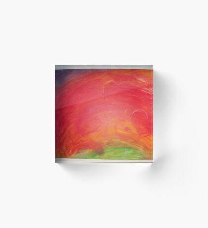 Landscape of fire Acrylic Block