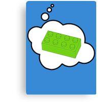 Green Brick, Bubble-Tees.com Canvas Print