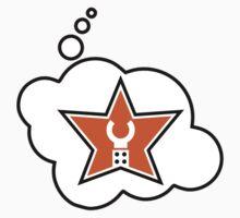 Customize My Minifig Brand Trade Mark Logo by Bubble-Tees.com Baby Tee