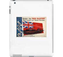 WAR POSTER, Red Duster, Red Ensign, Royal Merchant Navy, WWII poster iPad Case/Skin