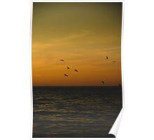 Sunset on Lake Michigan Poster