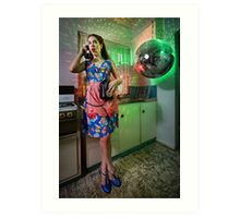 ATTACK OF THE MUTANT DISCO BALL!!! Art Print