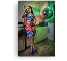 ATTACK OF THE MUTANT DISCO BALL!!! Canvas Print