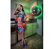 ATTACK OF THE MUTANT DISCO BALL!!! Photographic Print