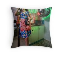ATTACK OF THE MUTANT DISCO BALL!!! Throw Pillow