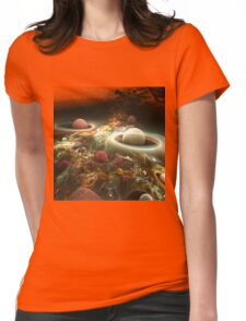 abstract corall reef background. Womens Fitted T-Shirt