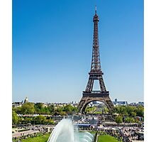 Eiffel Tower On A Sunny Day Photographic Print